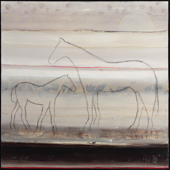 Two Horses - Red Stripe No.2